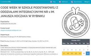 EVENT CODE WEEK SP1 RYBNIK