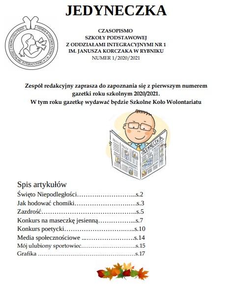 GAZETKA JEDYNECZKA NUMER I_2020_2021