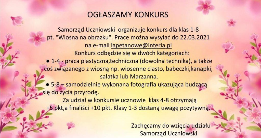 Konkurs Samorządu Uczniowskiego